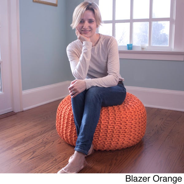 Hand-knitted Pouf Bean Bag