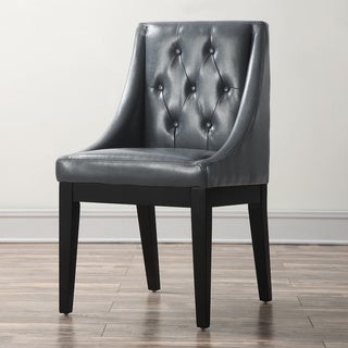 Tess Grey Leather Dining Chair