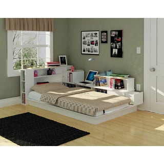 Rack Kingston White Twin Platform Bed