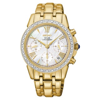 Seiko Women's 'Le Grand Sport' Goldtone Stainless Steel Chronograph Watch