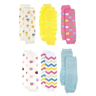 Crummy Bunny Baby Girl Leg Warmers (Set of 6)