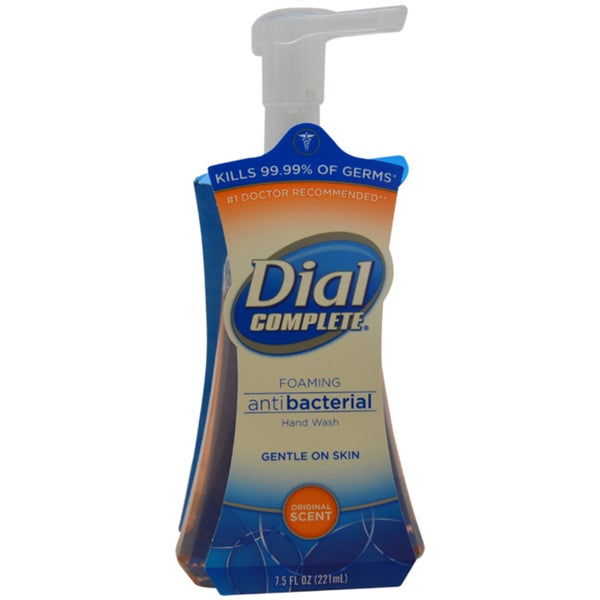 Dial Original Scent Antibacterial Foaming Liquid Soap 7.5-ounce Hand Wash