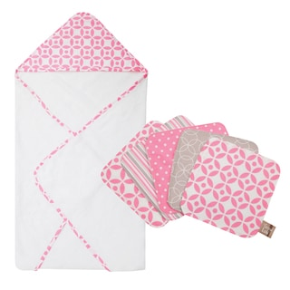 Trend Lab Lily Hooded Towel and Wash Cloth 6-piece Set