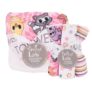 Trend Lab Lola Fox Hooded Towel and Wash Cloth 6-piece Set