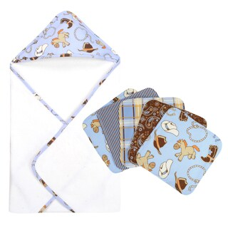 Trend Lab Cowboy Hooded Towel and Wash Cloth 6-piece Set