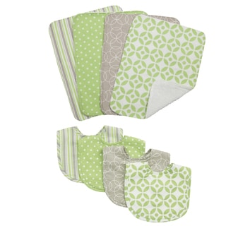 Trend Lab Lauren 8-piece Bib and Burp Cloth Set