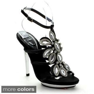 Celeste Women's 'I-SE' Rhinestone Shield Heels