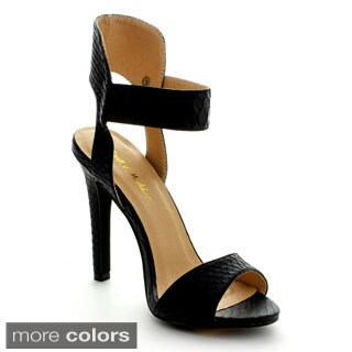 Mark & Maddux Women's 'Joshua-01' Ankle Strap Heels