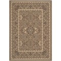Safavieh Indoor/ Outdoor Courtyard Brown/ Cream Rug (4' x 5'7)
