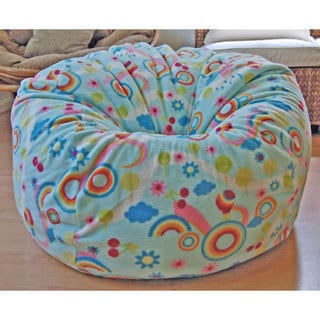 Rainbows Anti-Pill Fleece Washable Bean Bag Chair