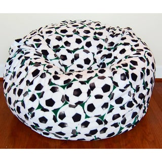 Soccer Anti-Pill Fleece Washable Bean Bag Chair