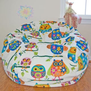 Pretty Owls Fleece Washable Bean Bag Chair
