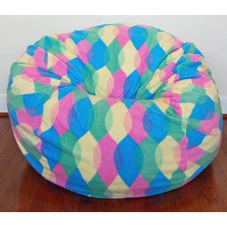 Color Drops Anti-Pill Fleece Washable Bean Bag Chair