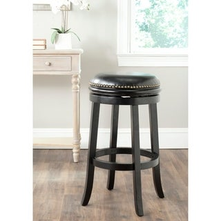 Safavieh Biagio Black/ Black Seat Bar Stool