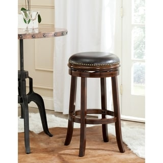Safavieh Biagio Espresso/ Brown Seat Bar Stool