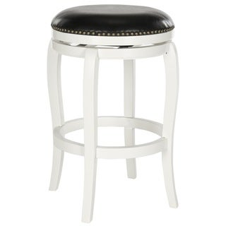 Safavieh Nuncio White/ Black Seat Swivel Bar Stool