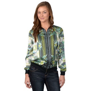 Journee Collection Women's Printed Zip Front Jacket