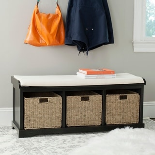 Safavieh Lonan Black/ White Storage Bench
