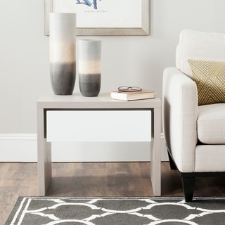 Safavieh Jonco Grey/ White Side Table