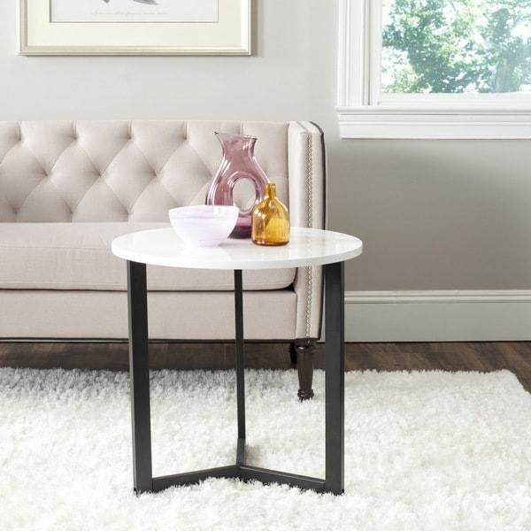 Safavieh Ballard White/ Black Lacquer End Table