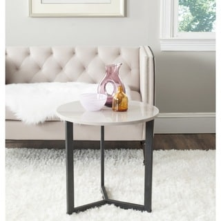 Safavieh Ballard Taupe/ Black Lacquer End Table
