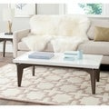 Safavieh Josef White/ Dark Brown Lacquer Coffee Table