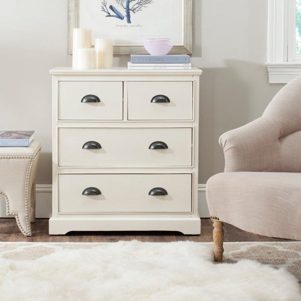 Safavieh Prudence White Storage Chest Of Drawers