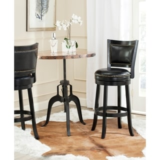 Safavieh Lazzaro Black/ Black Seat 29-inch Bar Stool