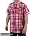 MO7 Men's Plaid Woven Short Sleeve Shirt