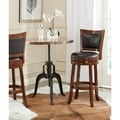 Safavieh Lazzaro Walnut/ Brown Seat Bar Stool