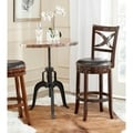 Safavieh Santino Espresso/ Brown Seat Bar Stool