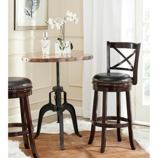 Safavieh Butler Cappuccino/ Black Seat 29-inch Bar Stool