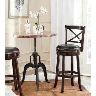 Safavieh 29-inch Butler Cappuccino/ Black Bar Stool