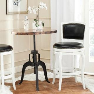 Safavieh Pasquale White/ Black Seat 29-inch Swivel Bar Stool