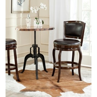 Safavieh Pasquale Espresso/ Brown Seat Bar Stool