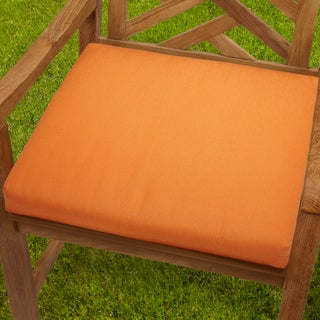 Bristol Tangerine Indoor/ Outdoor 19-inch Chair Cushion with Sunbrella Fabric