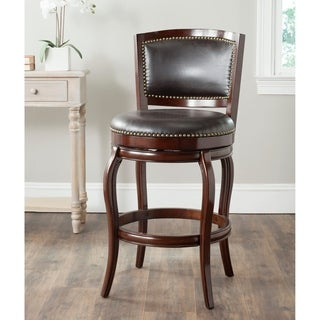 Safavieh Pasquale Sierra Brown/ Brown Seat 29-inch Swivel Bar Stool