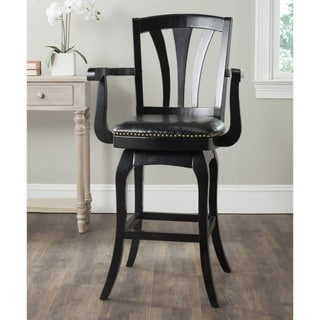 Safavieh Nazario Black/ Black Seat Bar Stool