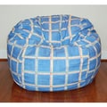 Wide Block Party Washable 36-inch Bean Bag Chair