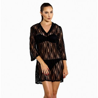 Jordan Taylor Women's Sheer Diamond Lace Tunic Cover-up