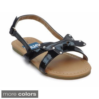 Blue Girls 'K-Bowsling' Bow-topped Ankle Strap Sandals