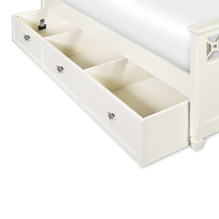 Cameron White Wood Trundle Bed