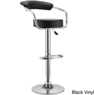 Vinyl 50's Style Diner Adjustable Bar Stools (Set of 2)
