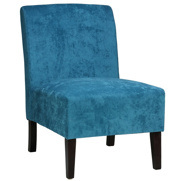 to your home decor with this plush microfiber upholstered accent chair
