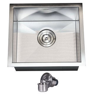 Stainless Steel Single Bowl Undermount Bar Sink with Strainer