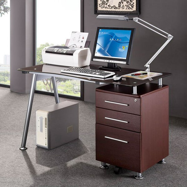 desk with locking file cabinet 3