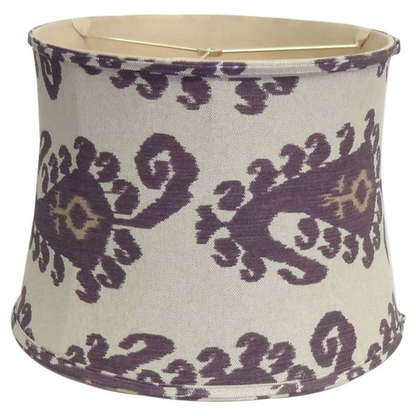 Purple Paisley Linen Lamp Shade