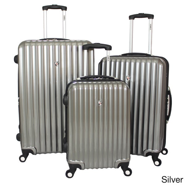 World Traveler Voyager Expandable 3-piece Hardside Spinner Luggage Set with TSA Lock