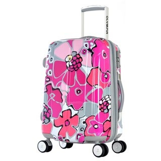 Olympia Blossom II 21-inch Hardside Carry-on Spinner Upright Suitcase
