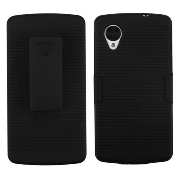 BasAcc Black Hybrid Holster Case for LG D820 Nexus 5